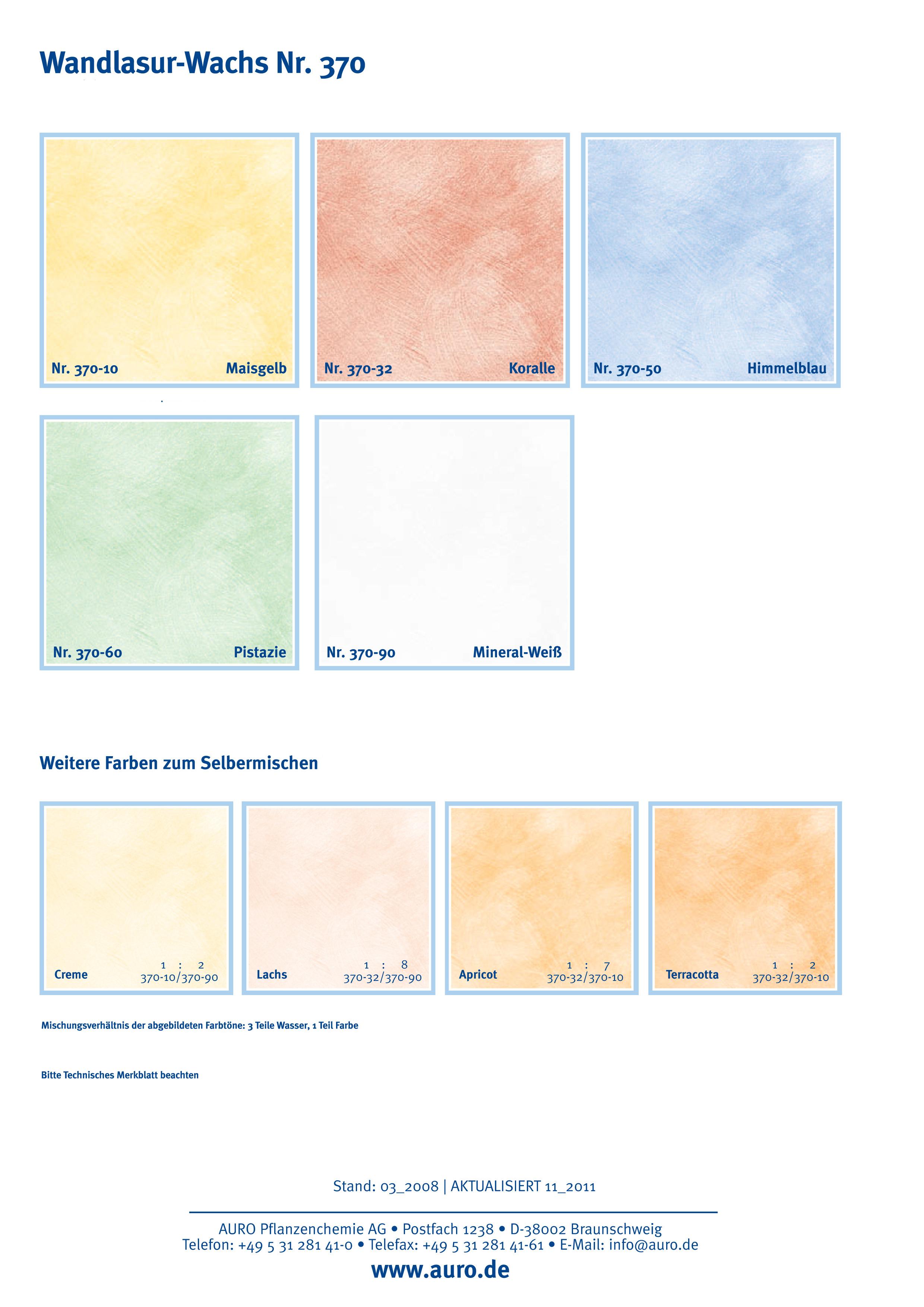 auro wandlasur-wachs nr. 370 - farbton naturfarben